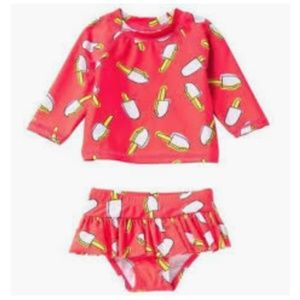 NWT Dot Australia Ice Popsicle Rashguard Set